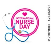vector international nurse day... | Shutterstock .eps vector #629353934