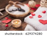 wellness decoration with red... | Shutterstock . vector #629374280