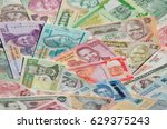 variety of the african banknotes | Shutterstock . vector #629375243