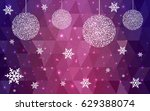 light purple vector low poly... | Shutterstock .eps vector #629388074