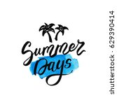 summer days postcard. summer... | Shutterstock .eps vector #629390414