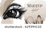 vector hand drawn illustration... | Shutterstock .eps vector #629394110