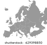 high quality map of europe with ... | Shutterstock .eps vector #629398850