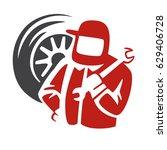 auto repair shop logo ... | Shutterstock .eps vector #629406728