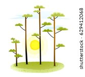 summer nature landscape with... | Shutterstock .eps vector #629412068