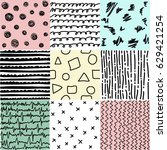 set of abstract patterns of...   Shutterstock .eps vector #629421254