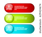 infographics. labels for your... | Shutterstock .eps vector #629424674