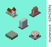 isometric architecture set of...   Shutterstock .eps vector #629425856
