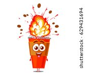 funny vector character cup of... | Shutterstock .eps vector #629431694