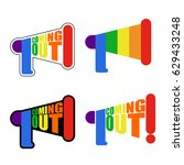coming out lgbt sign message.... | Shutterstock .eps vector #629433248