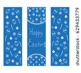 blue happy easter background | Shutterstock .eps vector #629433779
