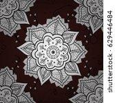 vector illustration. damask... | Shutterstock .eps vector #629446484