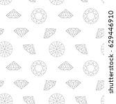 diamond concept seamless... | Shutterstock .eps vector #629446910