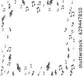 square frame of music notes... | Shutterstock .eps vector #629447810