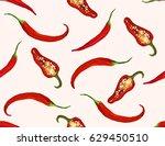 beautiful seamless pattern...   Shutterstock .eps vector #629450510