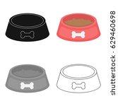 dog bowl vector icon in cartoon ...   Shutterstock .eps vector #629460698
