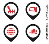 transport icon. set of 4... | Shutterstock .eps vector #629463638
