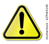 hazard warning attention sign.... | Shutterstock .eps vector #629464148