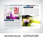 brochure or magazine layout ... | Shutterstock .eps vector #629465180