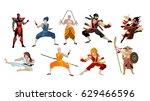 martial artists shaolin...   Shutterstock .eps vector #629466596