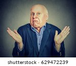 senior confused man is... | Shutterstock . vector #629472239