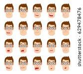 cartoon businessman character.... | Shutterstock .eps vector #629478476