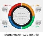 3d circle infographic chart ... | Shutterstock .eps vector #629486240