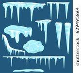 Snow Icicles  Snow Caps Set....