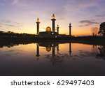 beautiful sunrise with...   Shutterstock . vector #629497403