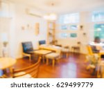 blur table with chairs in... | Shutterstock . vector #629499779