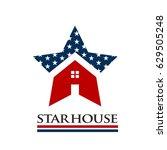 american star house award logo... | Shutterstock .eps vector #629505248