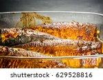 mackerel in marinade  baked in... | Shutterstock . vector #629528816