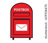 red postbox vector   Shutterstock .eps vector #629536670