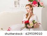 sweet ballerina in a stage... | Shutterstock . vector #629539010