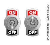 metallic toggle switcher.... | Shutterstock .eps vector #629545100