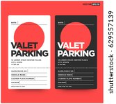 valet parking card design with... | Shutterstock .eps vector #629557139