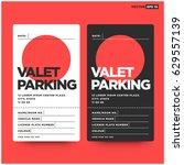 valet parking card design with... | Shutterstock .eps vector #629557139