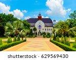 Small photo of phra Ram Ratchaniwet (Ban Pun Palace) , Phetchaburi ,Thailand.tourists can take photo only outside