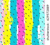 pattern of trendy geometric... | Shutterstock .eps vector #629572889