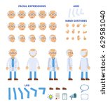 old professor  scientist or... | Shutterstock .eps vector #629581040