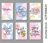 mother's day hand drawn... | Shutterstock .eps vector #629588834