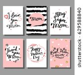 mother's day hand drawn... | Shutterstock .eps vector #629588840