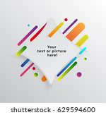 vector background with paper... | Shutterstock .eps vector #629594600