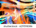 abstract watercolor texture.... | Shutterstock . vector #629598386