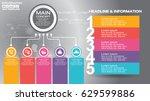 16 9 infographic flyer... | Shutterstock .eps vector #629599886