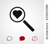 heart search icon  vector best...