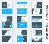 set of modern business card... | Shutterstock .eps vector #629607239