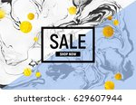 sale poster. black and white... | Shutterstock .eps vector #629607944