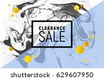 sale poster. black and white...   Shutterstock .eps vector #629607950