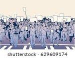 illustration of demonstrating... | Shutterstock .eps vector #629609174